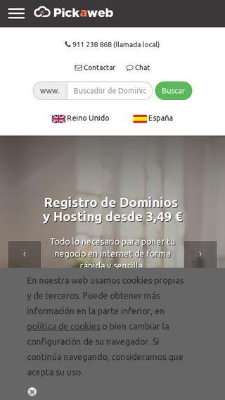 Mobile preview of pickaweb.es