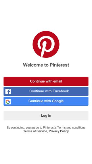 Mobile preview of pinterest.ie