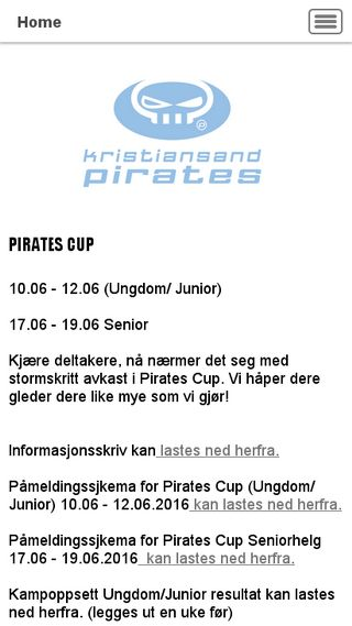 Mobile preview of piratescup.no