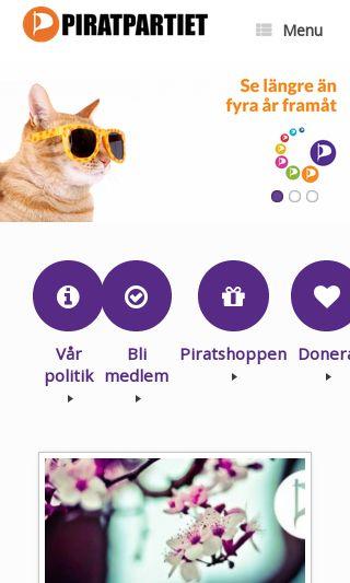 Mobile preview of piratpartiet.se