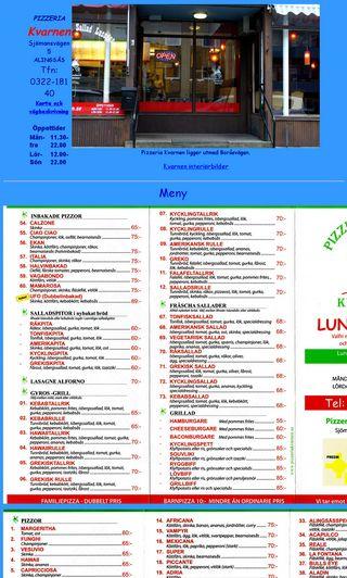Mobile preview of pizzeriakvarnen.se