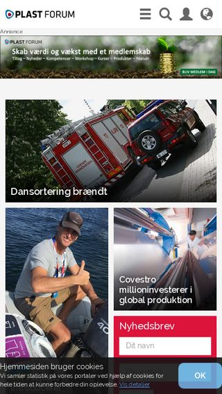 Mobile preview of plastforum.dk