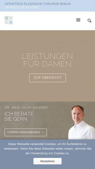 Mobile preview of plastische-chirurgie-berlin.de