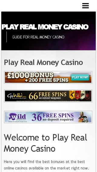 Mobile preview of playrealmoneycasino.net