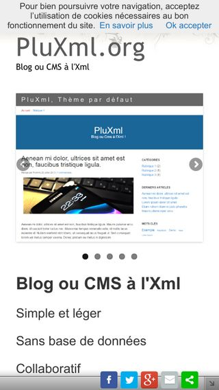 Mobile preview of pluxml.org