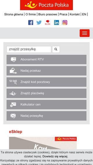Mobile preview of poczta-polska.pl