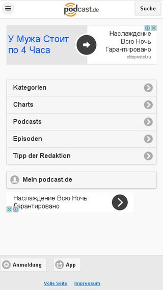 Mobile preview of podcast.de