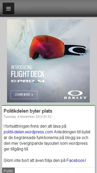 Mobile preview of politikdelen.blogg.se
