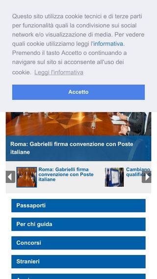 Mobile preview of poliziadistato.it