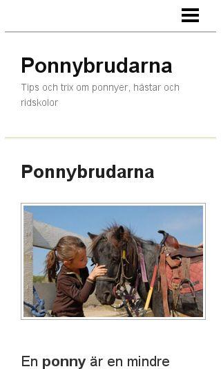 Mobile preview of ponnybrudarna.se