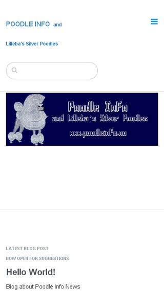 Mobile preview of poodleinfo.no