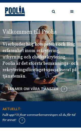 Mobile preview of poolia.se