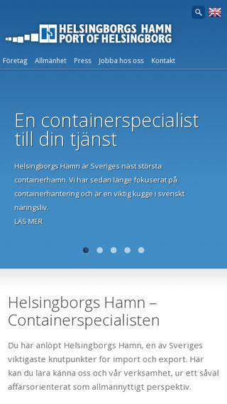 Mobile preview of port.helsingborg.se