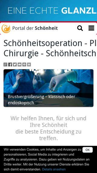 Mobile preview of portal-der-schoenheit.de
