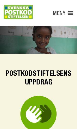 Mobile preview of postkodstiftelsen.se