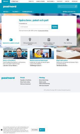 Mobile preview of postnord.se