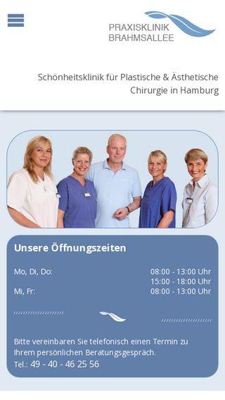 Mobile preview of praxisklinik-brahmsallee.de