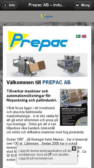 Mobile preview of prepac.se