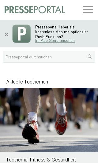 Mobile preview of presseportal.de