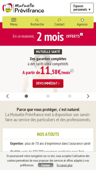 Mobile preview of previfrance.fr