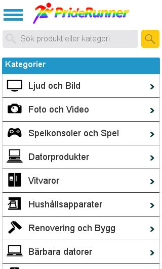 Mobile preview of pricerunner.se