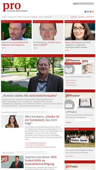Mobile preview of pro-medienmagazin.de