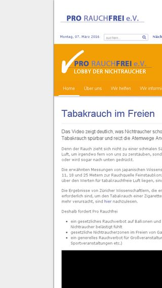 Mobile preview of pro-rauchfrei.de