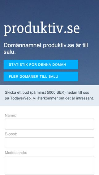Mobile preview of produktiv.se
