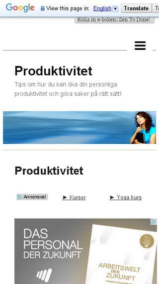 Mobile preview of produktivitet.n.nu