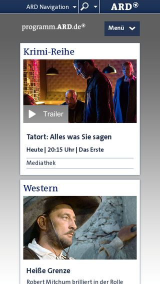 Mobile preview of programm.ard.de