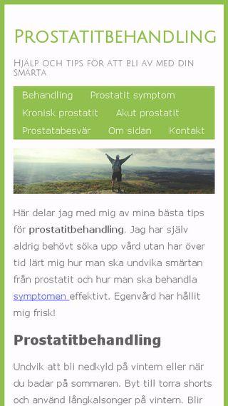 Mobile preview of prostatitbehandling.se