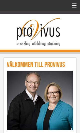 Mobile preview of provivus.se