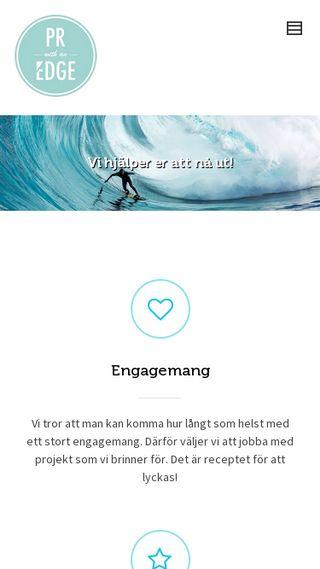 Mobile preview of prwithanedge.se