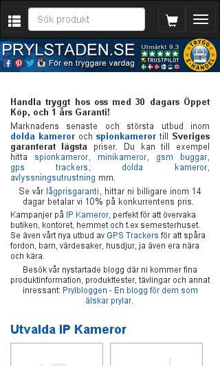 Mobile preview of prylstaden.se