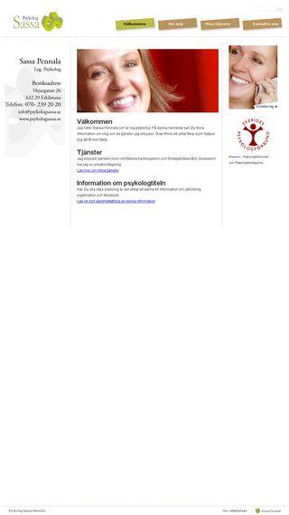 Mobile preview of psykologsassa.se