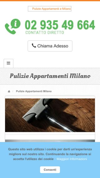 Mobile preview of pulizieappartamenti.milano.it