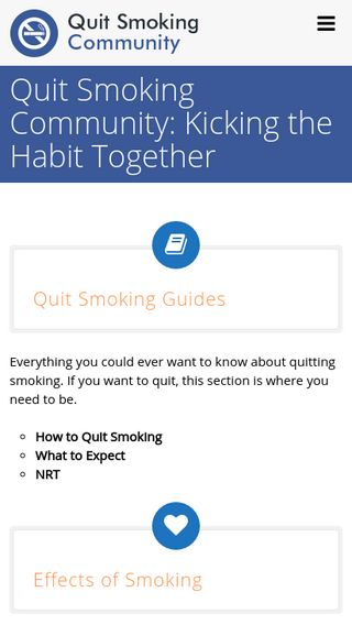 Mobile preview of quitsmokingcommunity.org