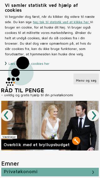 Mobile preview of raadtilpenge.dk