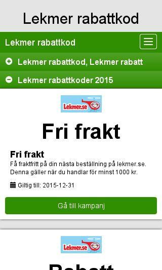 Mobile preview of rabattkodleksaker.se