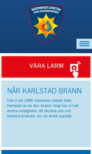 Mobile preview of raddningkarlstad.se