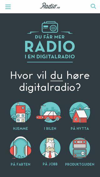 Mobile preview of radio.no