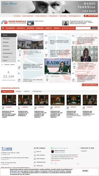 Mobile preview of radioradicale.it