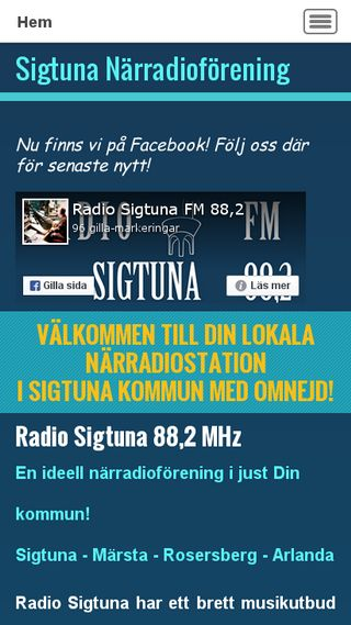 Mobile preview of radiosigtuna.se
