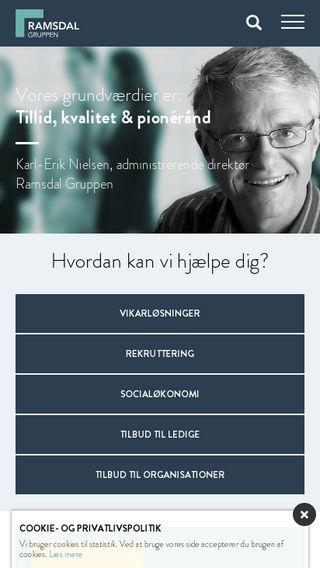 Mobile preview of ramsdalgruppen.dk