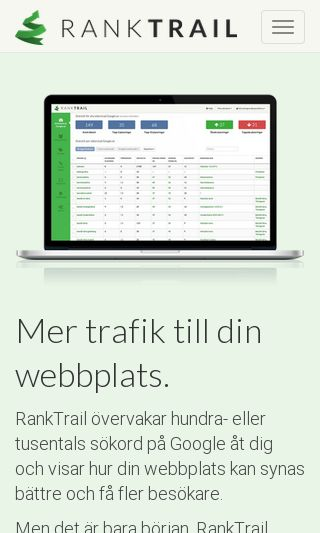 Mobile preview of ranktrail.se
