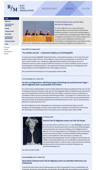 Mobile preview of rat-fuer-migration.de