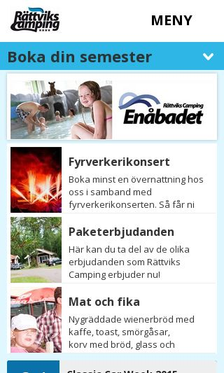 Mobile preview of rattvikscamping.se