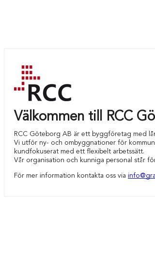 Mobile preview of rcc.se