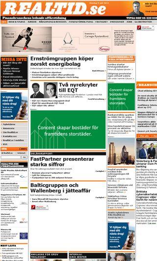 Mobile preview of realtid.se