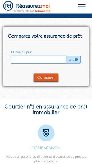 Mobile preview of reassurez-moi.fr